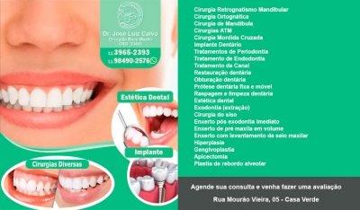 CLÍNICA Dr. JOSÉ LUIZ CALVO – Cirurgia e Traumatologia Buco Maxilo Facial