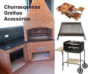 Churrasqueiras, Grelhas e Acessórios p/ churrasco